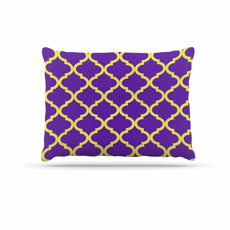 KESS InHouse Matt Eklund Culture Shock Yellow Purple Dog Bed, 30  x 40