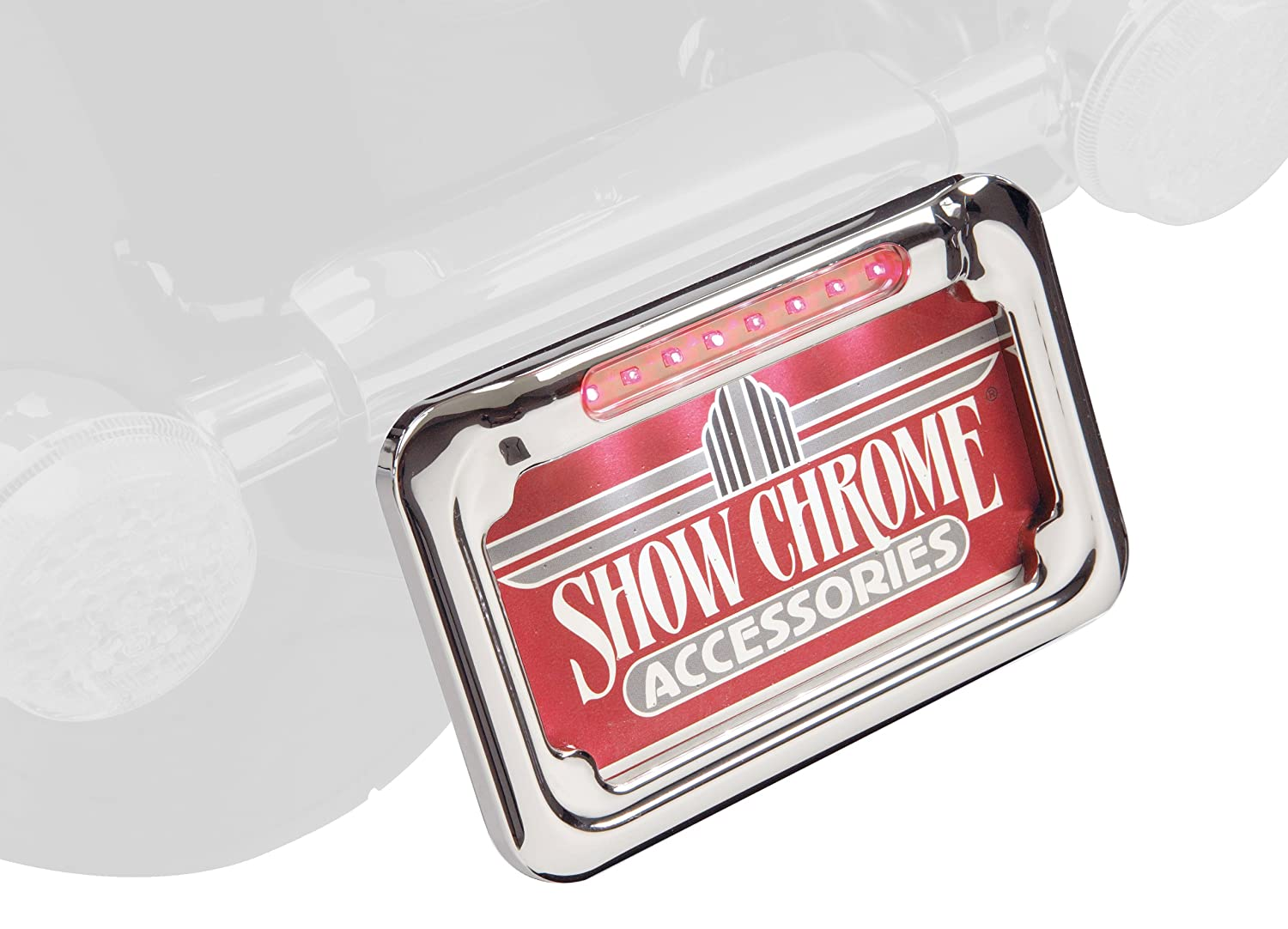 Show Chrome Accessories 16-132 LED Raised License Plate Holder