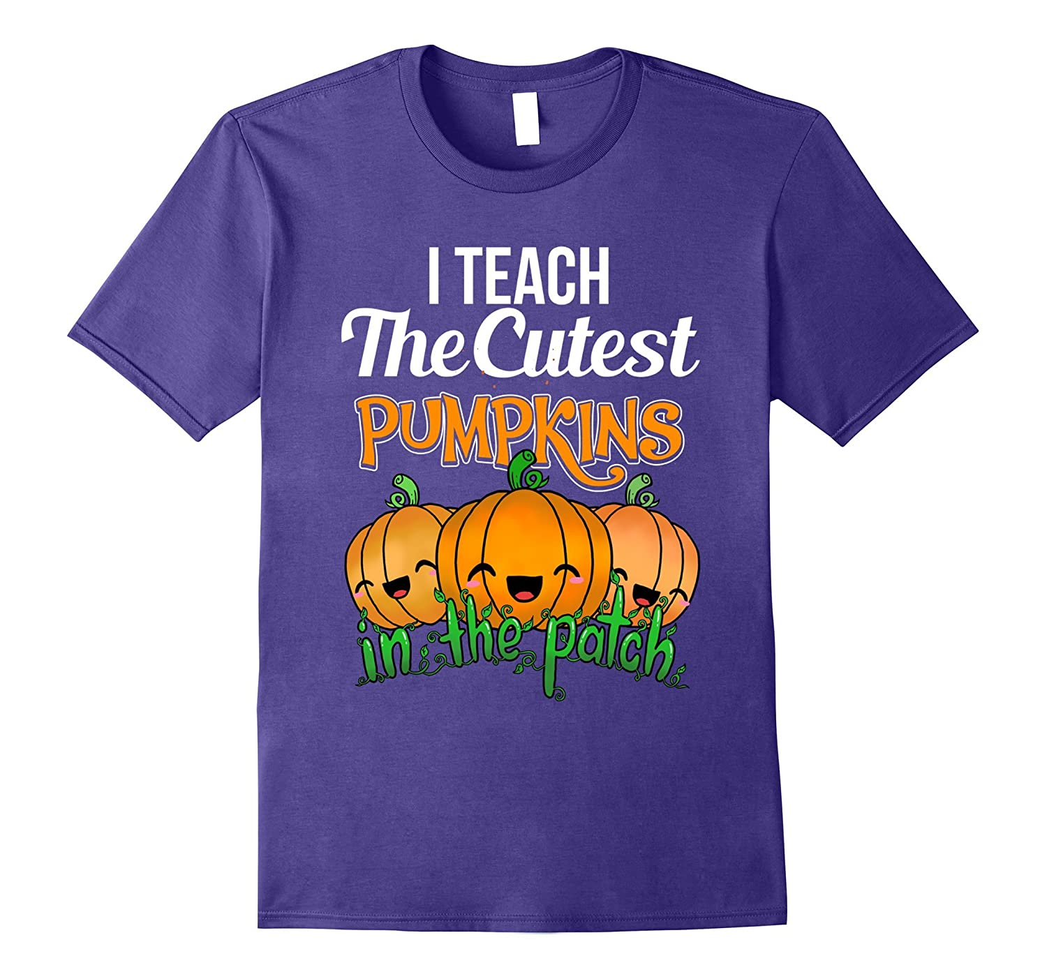 Cute Teacher Shirt I Teach The Cutest Pumpkins Halloween Tee-ANZ