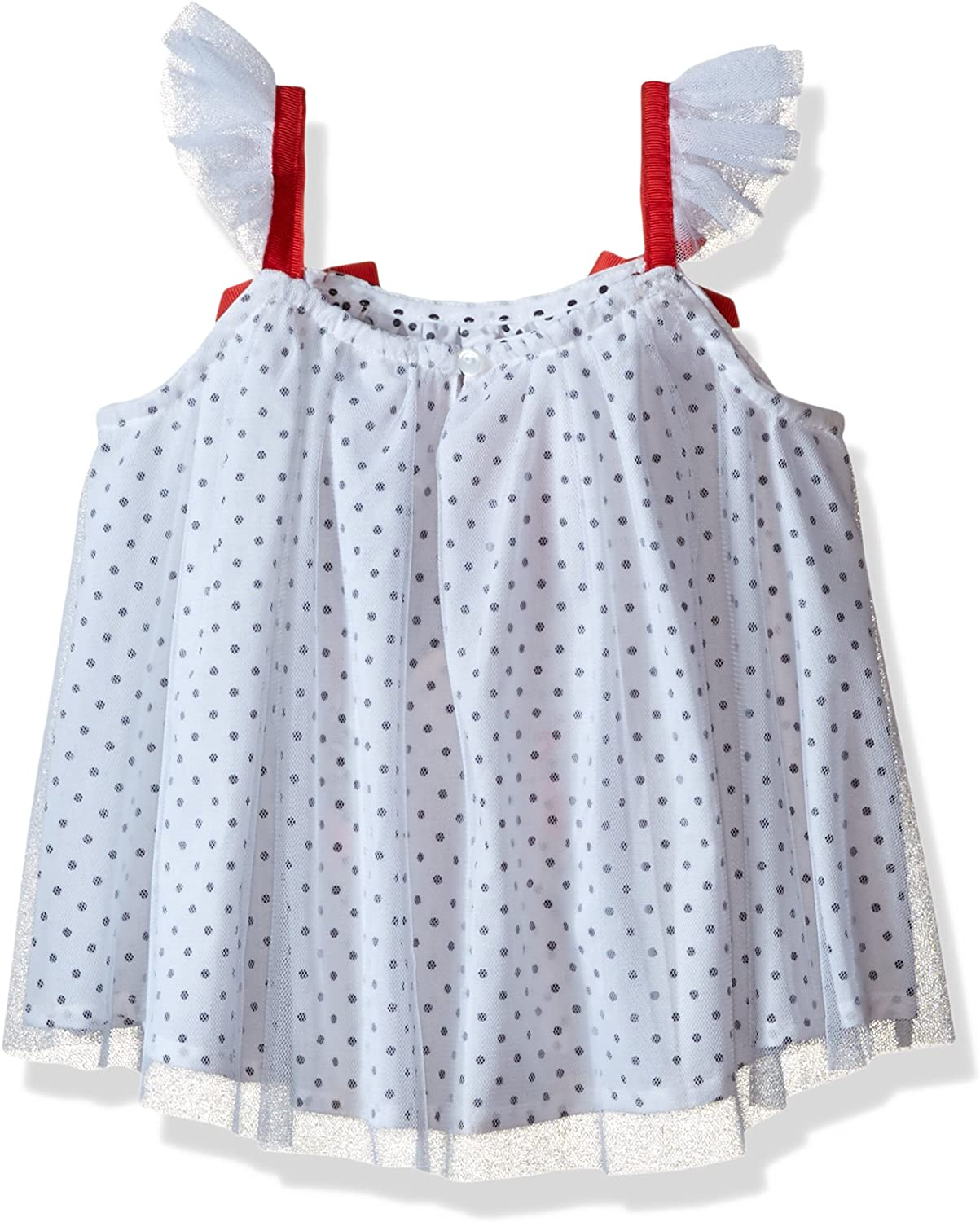 Disney Baby Girls Minnie Mouse Bike Short Set with Flutter Sleeves