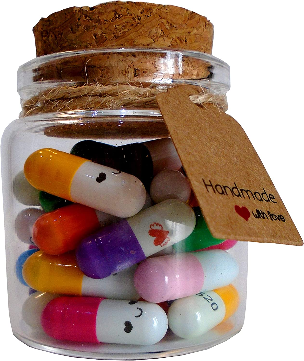 Little Jar Of Big Ideas Tiny Smiley Cute Capsule Messages In A Jar Thoughtful Gift Unique Present Thirty Two Capsules And Notes Artisan Handcrafted Gift Amazon Co Uk Kitchen Home