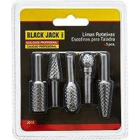 Jogo de 5 Limas Rotativas, Black Jack J015
