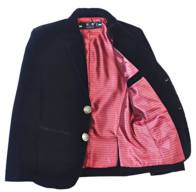 Amazon.com: Yuanlu niños Single-Breasted Blazer de ...