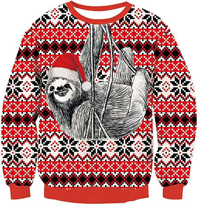 Funnycokid Ugly Christmas Knitted Sweater Kids Boys Girls