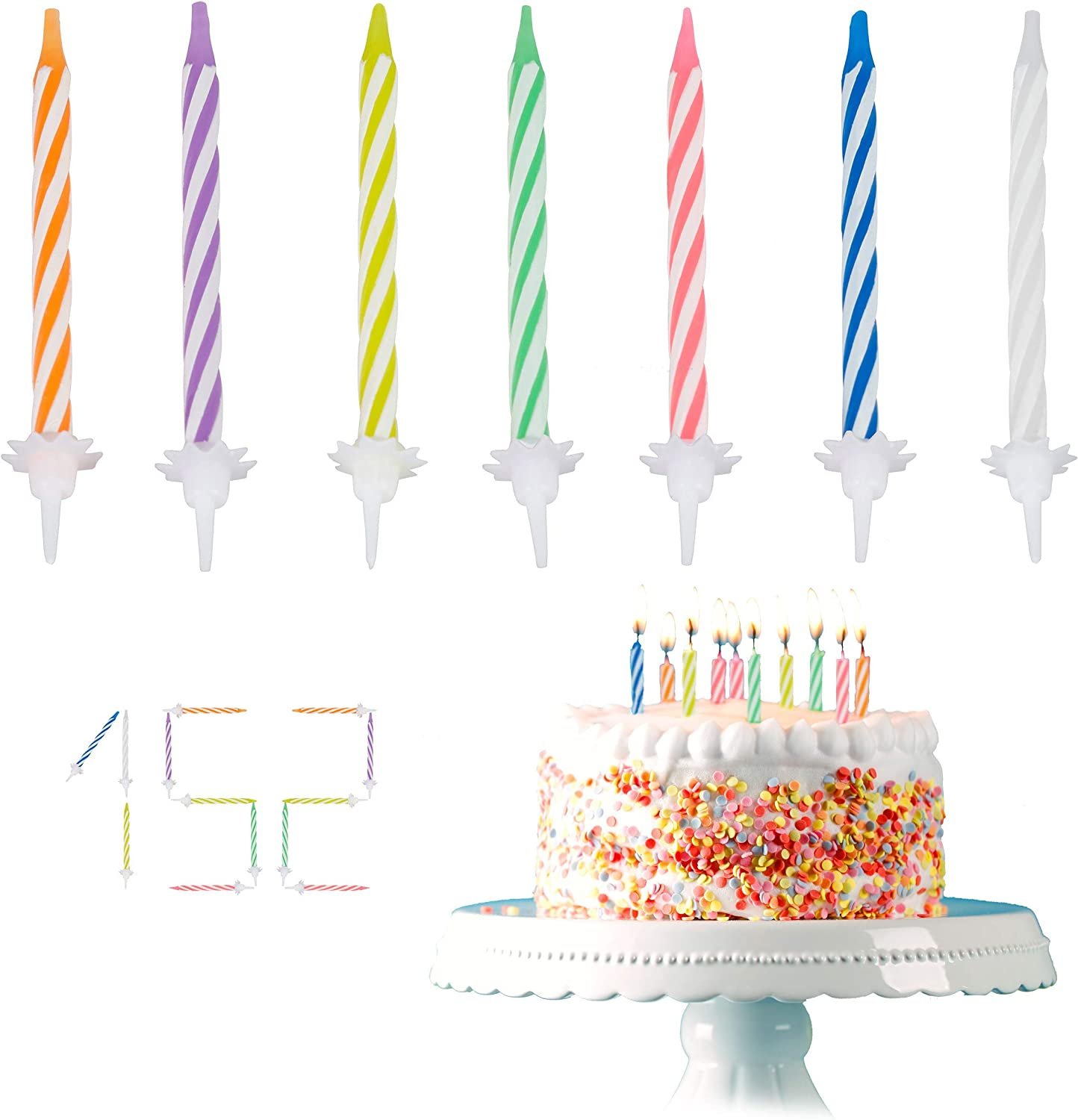 Astounding Amazon Com Relaxdays Set Of 102 Colourful Birthday Candles With Birthday Cards Printable Opercafe Filternl