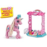 Pets Alive My Magical Unicorn in Stable Battery-Powered Interactive Robotic Toy Playset (Pink Unicorn) by ZURU