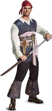 Disfraz de Jack Sparrow La Venganza de Salazar para Hombre: Amazon ...