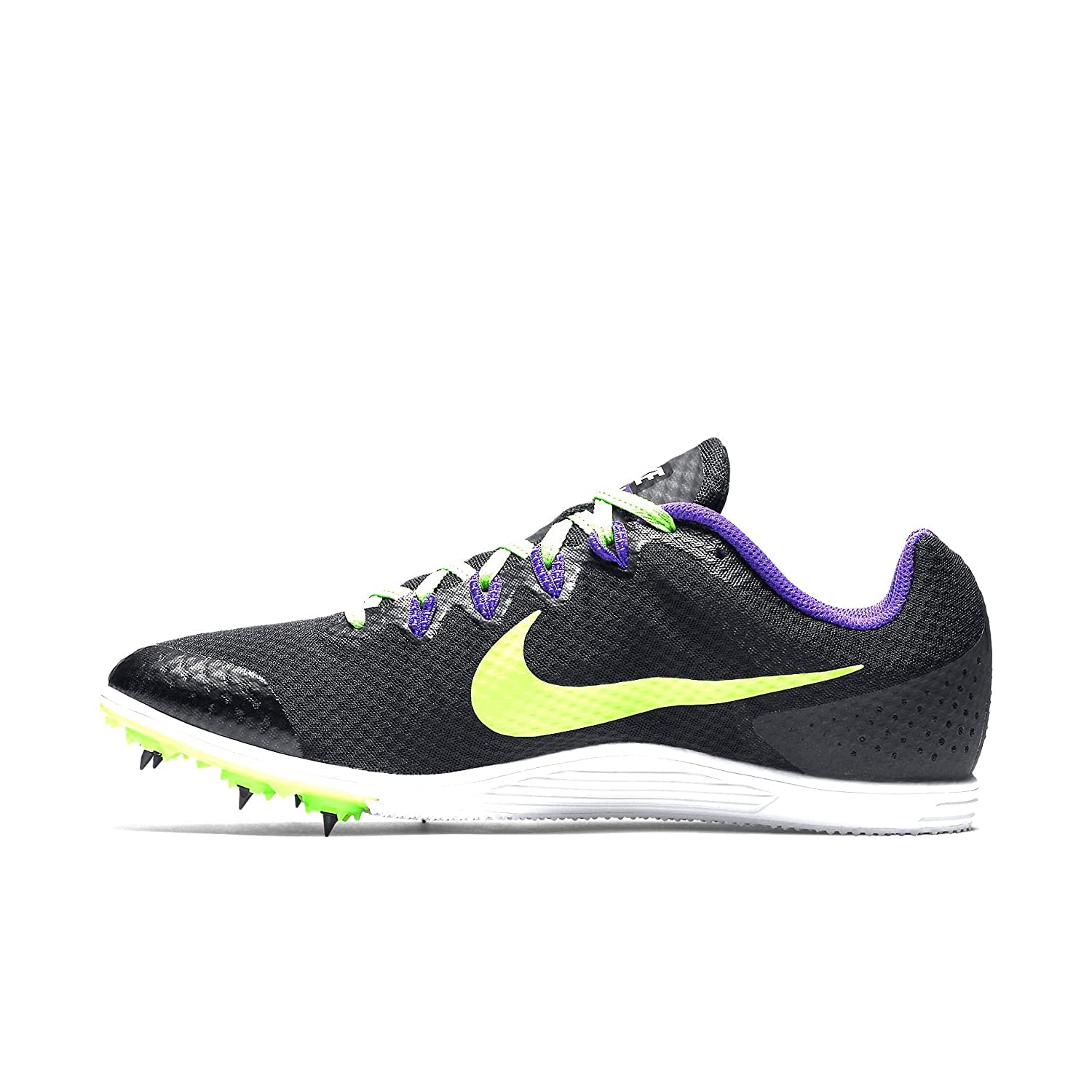 NIKE ZOOM RIVAL D 9 Black Lime Green Mid Distance Track Spikes NEW Mens 10 886916624673