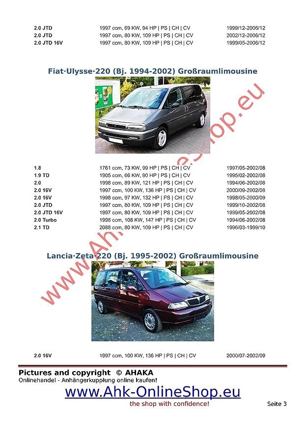 AHK Remolque con eléctrico Juego de 7 pines para Citroen Evasion, Jumpy/Peugeot 806, EXPERT/Fiat Ulysse, SCUDO/Lancia Zeta 94 - 05 anhängev orrichtung ...