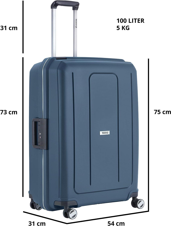 100 Liter TravelZ Valise Bleu Bleu 75 x 54 x 31cm