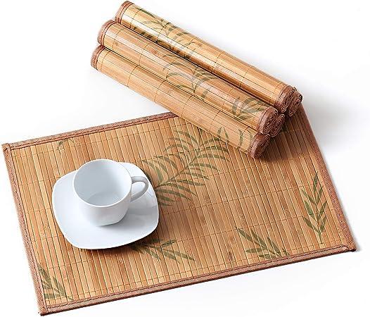 Lovecasa Set De Table En Bambou 6 Pcs Napperons Lavable
