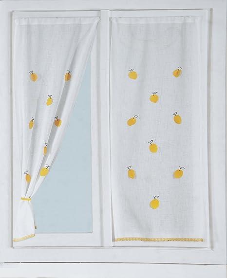 CARILLO Coppia Tende tendine per vetri finestra arredo cucina 60x150 ...