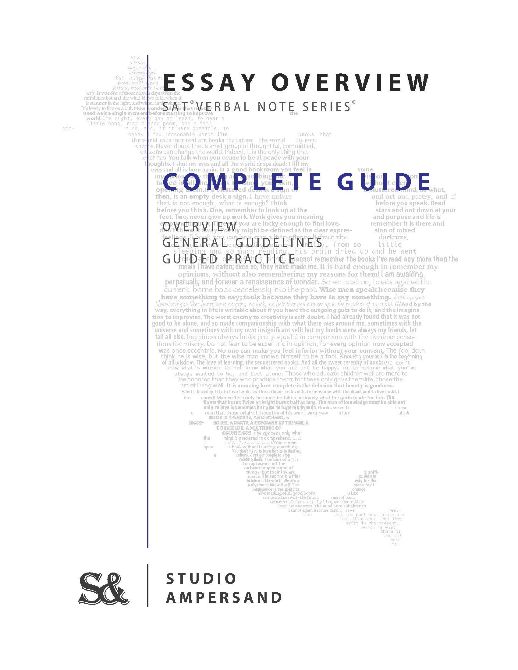 SAT Verbal Note Series: Essay Guide: Studio Ampersand