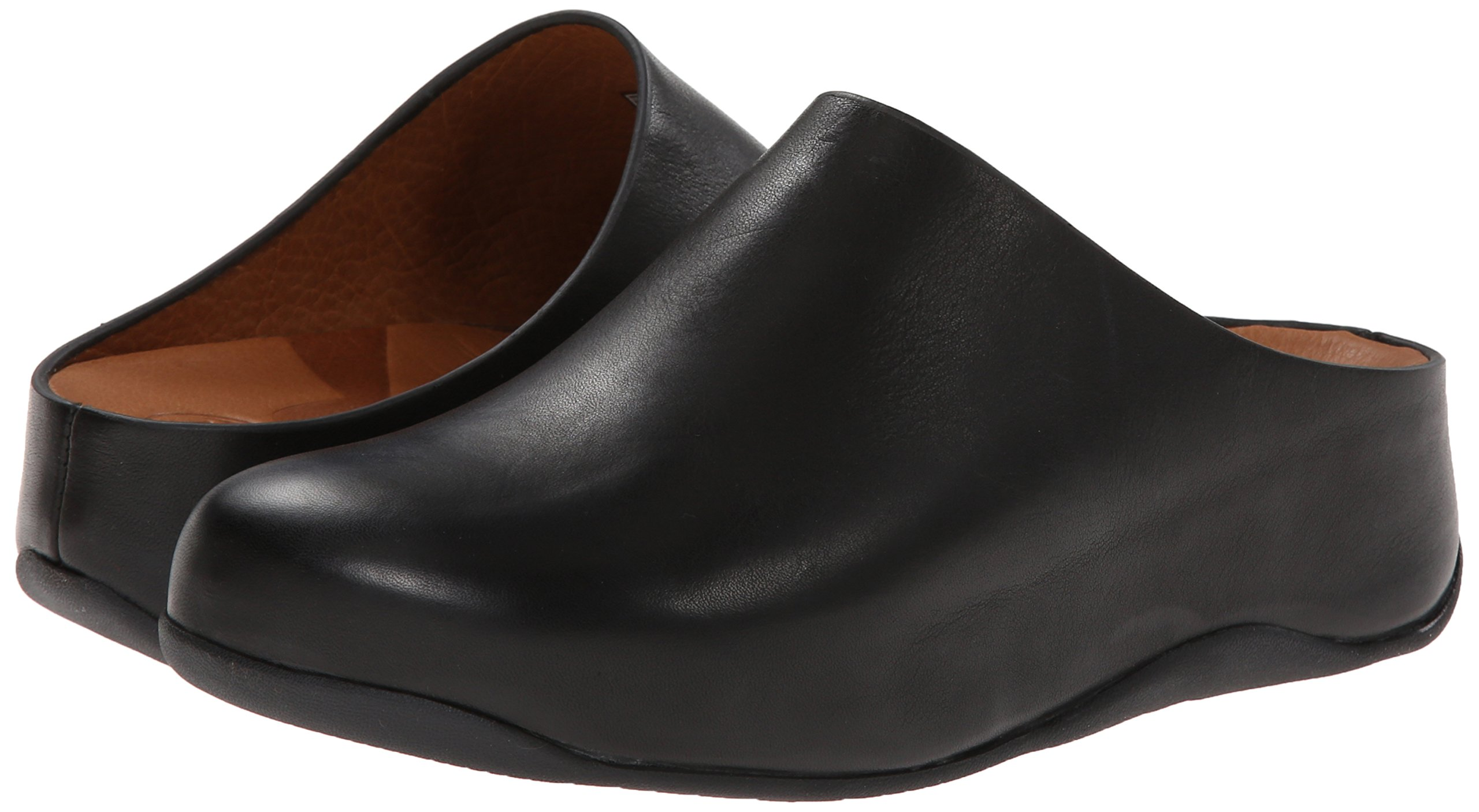 FitFlop Women's Shuv Leather Clog,Black,5 M US by FitFlop (Image #6)