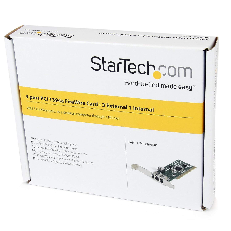 StarTech.com 3 Port PCI Firewire Adapter Card - 1394a - Firewire Card (PCI1394MP)