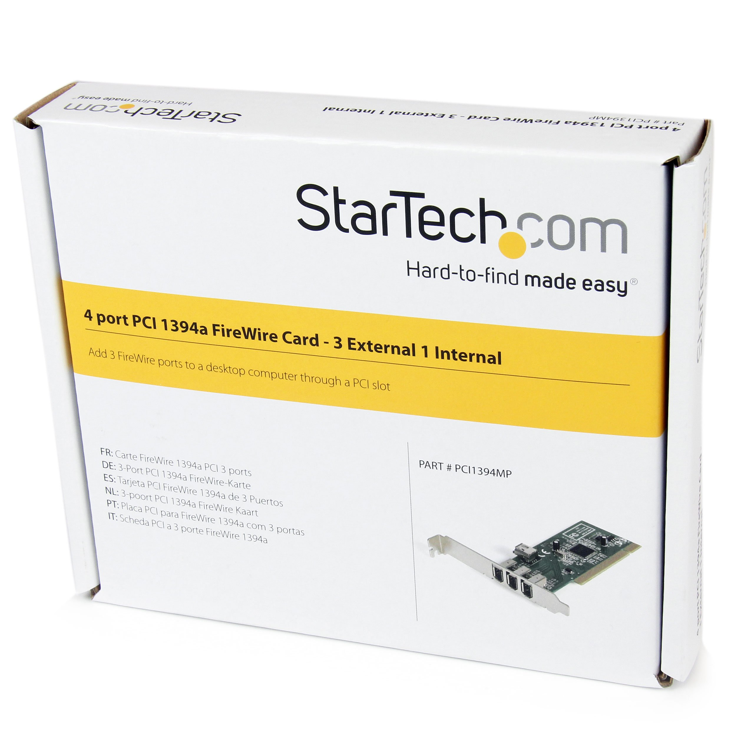 4 port PCI 1394a FireWire Adapter Card - 3 External 1 Internal by StarTech (Image #5)