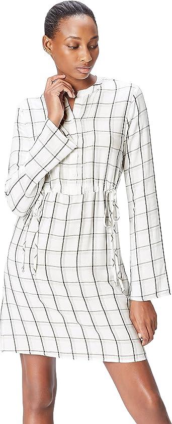 Marca Amazon - find. Vestido Camisero Mujer: Amazon.es: Ropa y accesorios