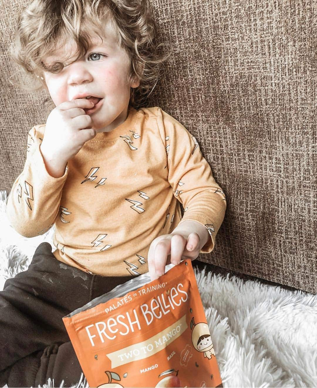 Fresh Bellies Vegan Snacks for Kids and Toddlers, No Added Sugars, Gluten Free, Paleo Friendly, Only 3 Ingredients, Non GMO, Kosher, 6 Pack - Two to Mango, 6 pack by Fresh Bellies