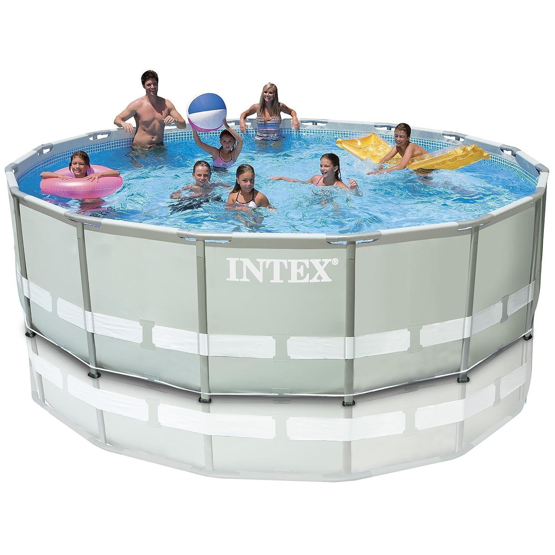 Intex Ultra 487, 68 cm x 121, 92 cm marco de a partir de billar con sistema de bucles a salada y bomba de aire y accesorios (28328): Amazon.es: Jardín