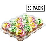 Katgely 12 Cupcake Box Cupcake Container, Set of 30