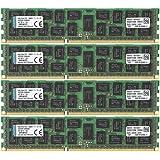 Kingston Technology ValueRAM 64 GB Kit of 4 (4x16 GB Modules) 1600MHz DDR3 (PC3-12800) ECC Reg CL11 DIMM DR x4 Server Memory KVR16R11D4K4/64