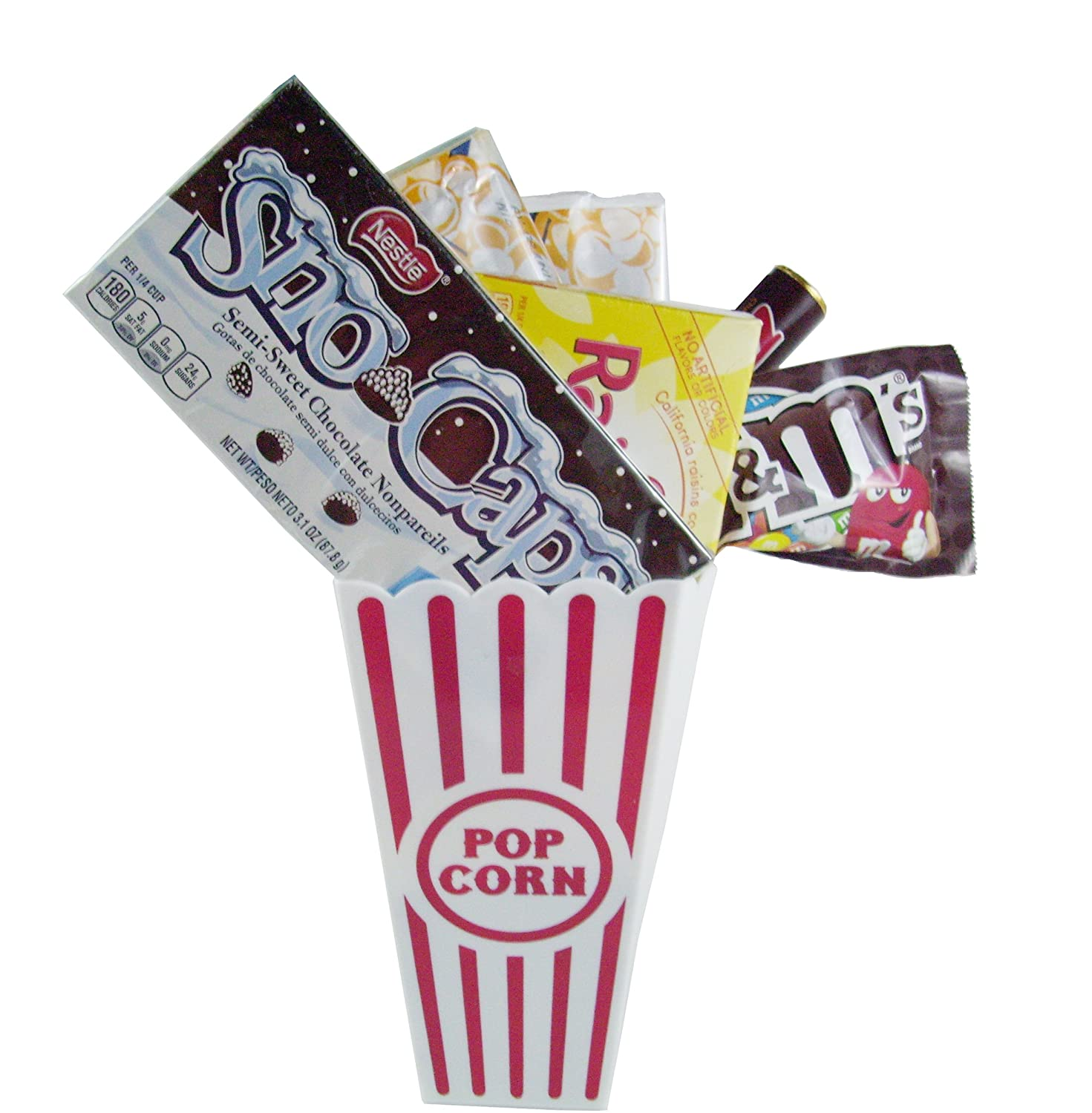 Amazon Com Movie Night Popcorn And Candy Gift Basket Includes Movie Theater Butter Popcorn And Concession Stand Candy Snow Caps Grocery Gourmet Food