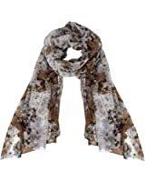 Peach Couture Womens Summer Fashion Hibiscus Floral Lightweight Scarf