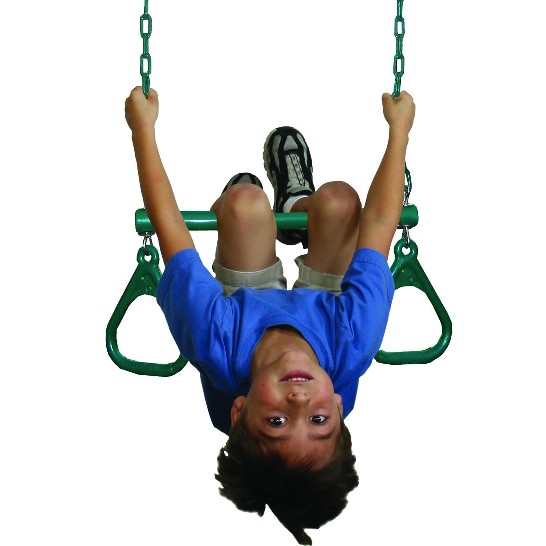 DropShip Green Swing N Slide WS 2435 Swing-N-Slide Extra-Duty Ring Trapeze Combo