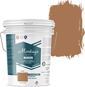 Montage Signature Interior/Exterior Eco-Friendly Paint, Terracotta, Low Sheen, 5 Gallon