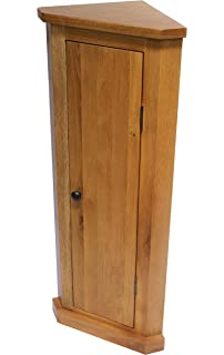 oak corner cabinet bathroom cabint hall stand plant stand lamp stand - Corner Storage Cabinet