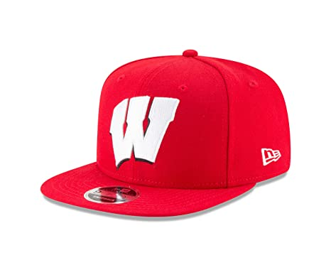 3f33c7b2cf1 Image Unavailable. Image not available for. Color  New Era NCAA Wisconsin  Badgers Logo Grand Snap 9Fifty Original Fit Cap ...