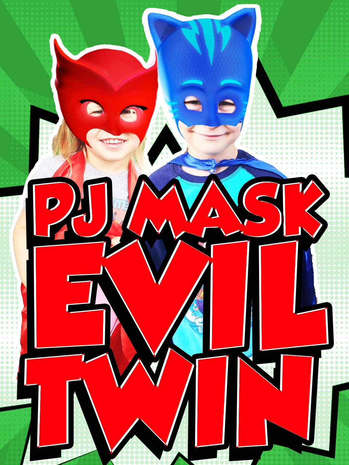 Amazon.com: PJ MASKS In Real Life Catboy Owlette Gekko Disney Junior Parody + Johnnys Evil Twin & Bounce Houses: Justin Evans, Johnny Evans, Zoey Evans