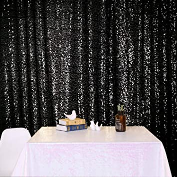 Silver Photo Booth Backdrop Shoot Wedding Birthday Party Photograph 4Ft x 6.5Ft