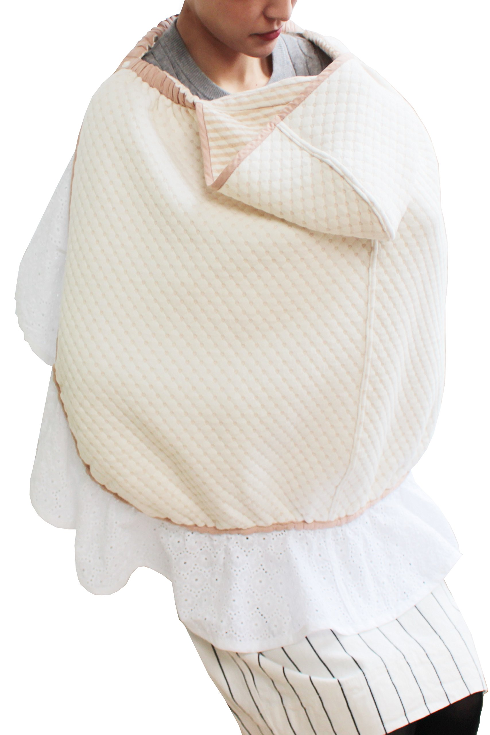 Sweet Mommy Maternity and Nursing 3-in-1 Cotton Baby Cover Brown, F by Sweet Mommy (Image #1)