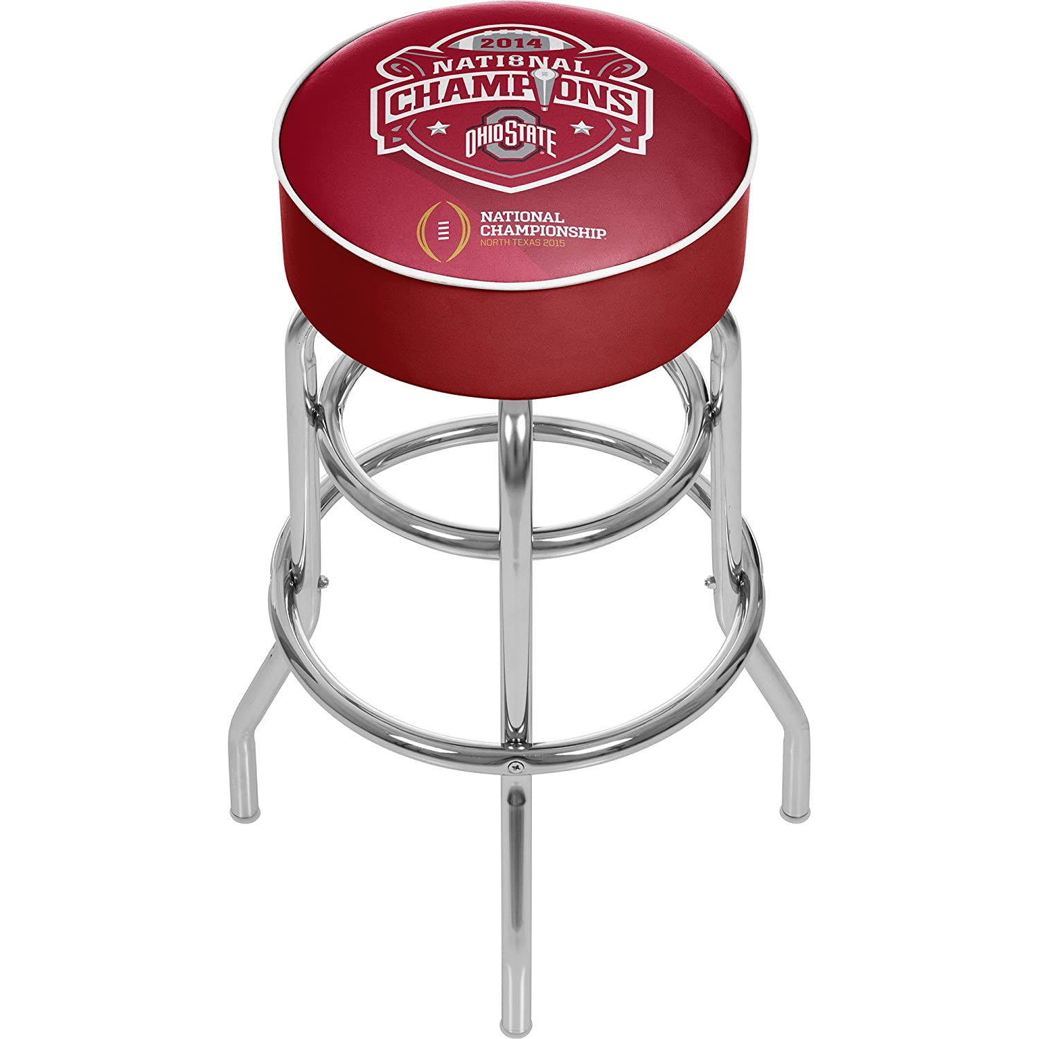 Trademark Gameroom Ohio State National Champions Chrome Bar Stool with Swivel