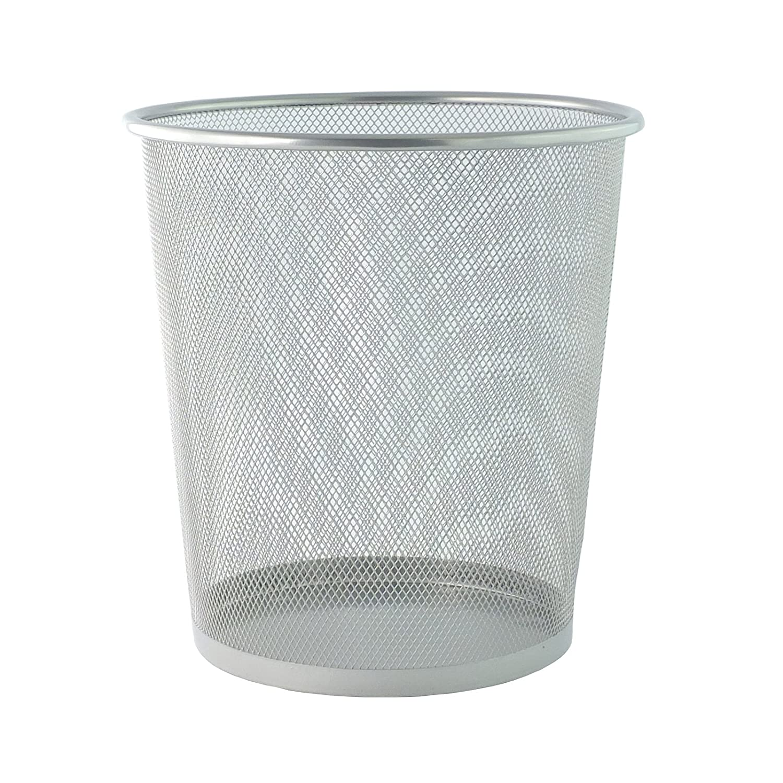 Bid Buy Direct Nouvelles poubelles circulaires en treillis robustes & légères 2 couleurs Grand/petit - 1 Small - argent