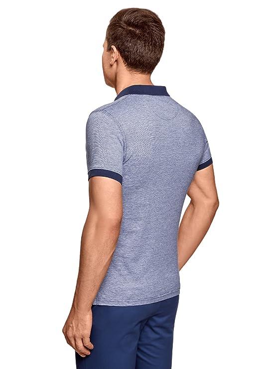 oodji Ultra Herren Poloshirt Basic mit Kontrastdetails: Amazon.de:  Bekleidung