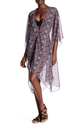 8aec1d35be Image Unavailable. Image not available for. Color: La Moda Clothing Women's  Swim Cover Ups Kimono with Matching Swimsuits and Bikinis ...