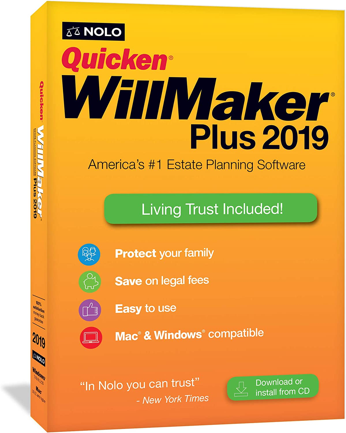 Quicken WillMaker Plus 2019 and Living Trust software