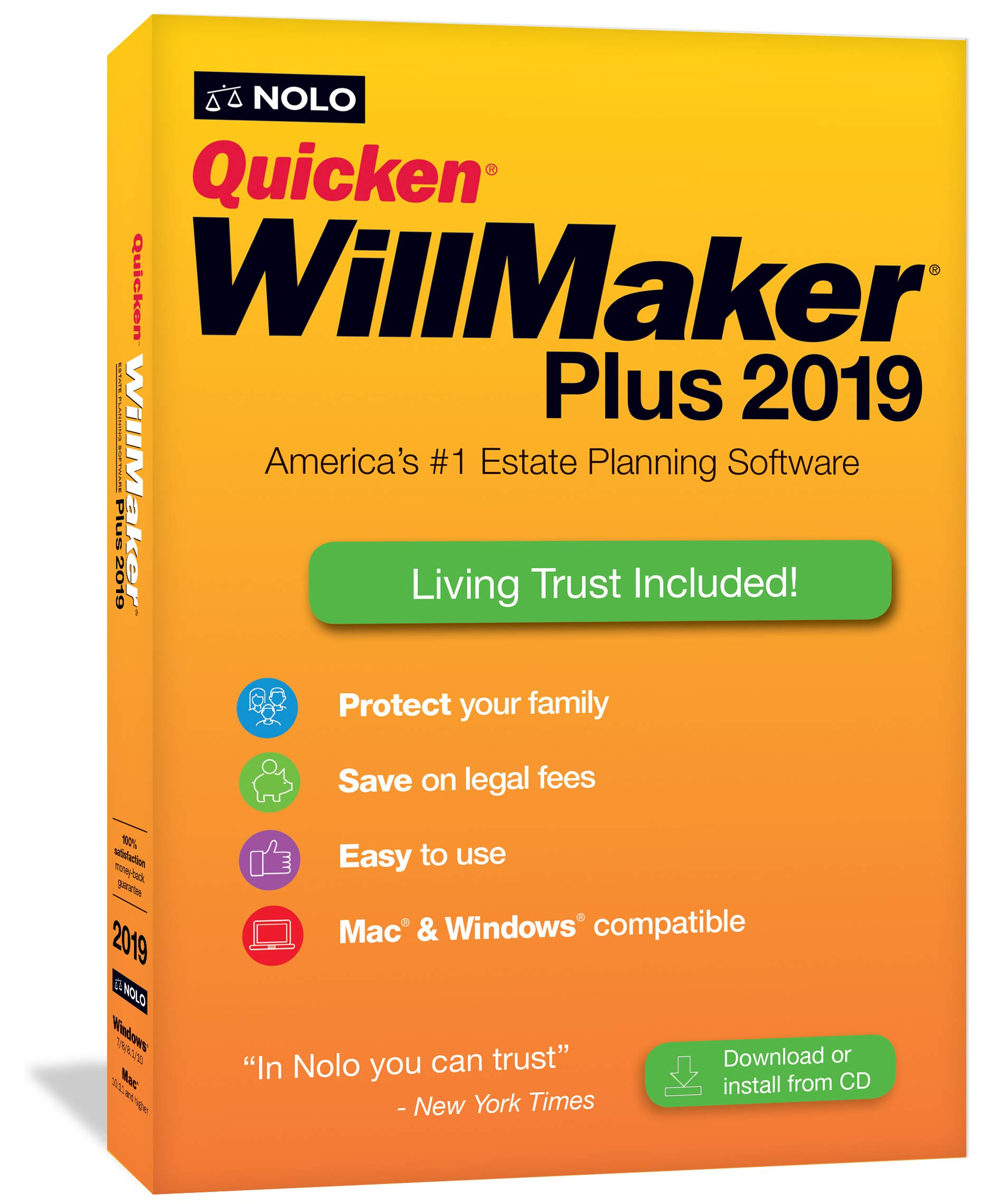 Quicken WillMaker Plus 2019 and Living Trust software by NOLO