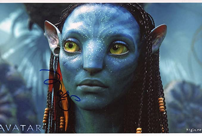 Zoe Saldana Avatar Autograph In Person Signed Photo At