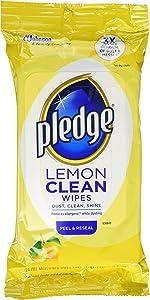 Pledge Lemon Wipes, 24 Count (Pack of 3)