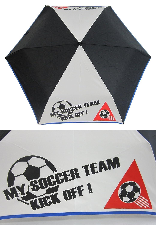 ランドセルに入る かる~~いミニ傘!サッカー駒替ロゴ