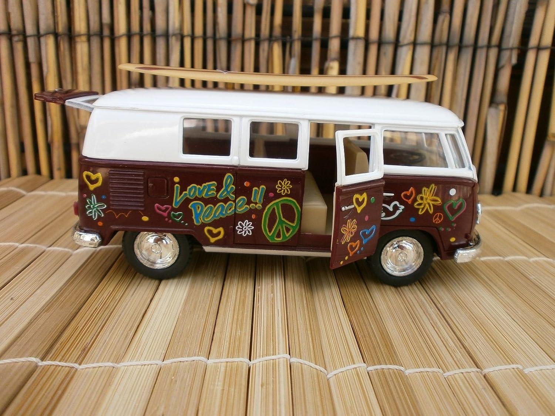 1962クラシックVW Love & Peace Surfboard Longboard VANビーチJacobsロゴバス1 : 32   B0793HHNXS