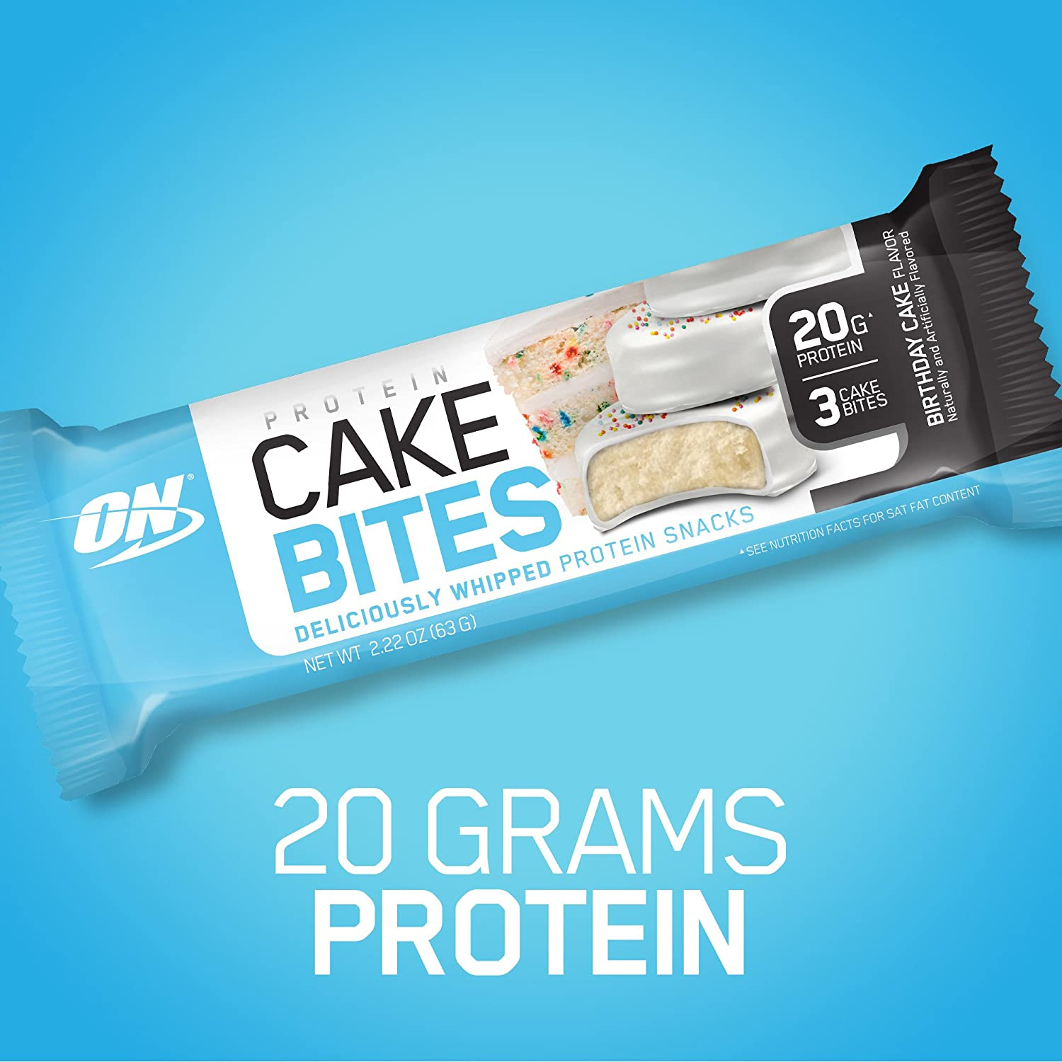 Amazon OPTIMUM NUTRITION Protein Cake Bites Whipped Bars On The Go Low Sugar Dessert Flavor Birthday 12 Count Health