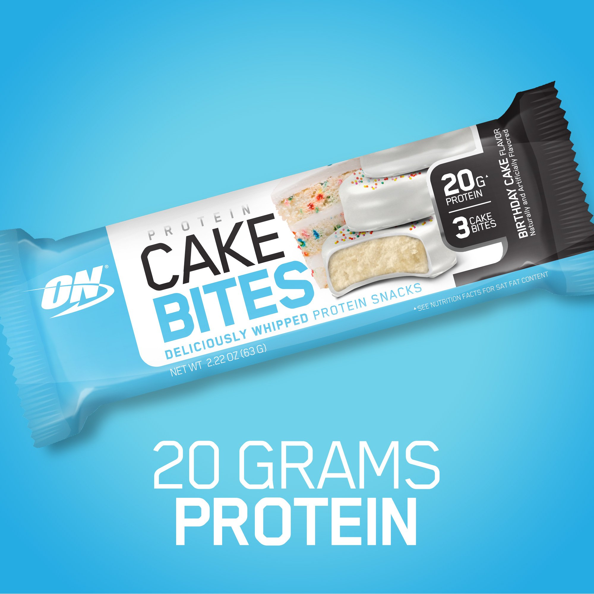 Optimum Nutrition Protein Cake Bites Whipped Bar Flavor Birthday 12 Count