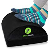 ErgoFoam Adjustable Foot Rest Under Desk for Added Height | Large Premium Velvet Soft Foam Footrest for Desk | Most…
