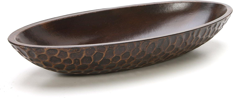 "Hosley's Honeycomb Wood Decor Bowl, 14.3"" Long, For Orbs, Dried Potpourri etc. Ideal Gift for Study, Den, Dorm, Home, Weddings, Spa, Reiki, Meditation O3"