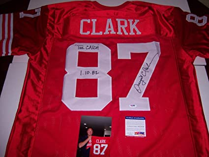 84dfeee29 Image Unavailable. Image not available for. Color  Dwight Clark Signed  Jersey - Sanfrancisco The Catch red - PSA DNA Certified - Autographed