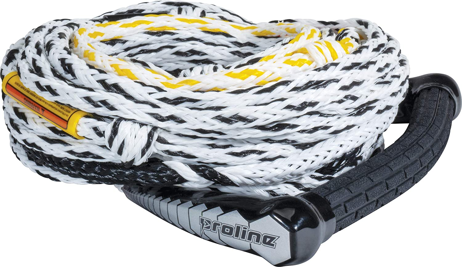 PROLINE Waterski Handle and 75' - 5 Section Rope Package, 13' Tractor Grip Radius(Bent) Handle